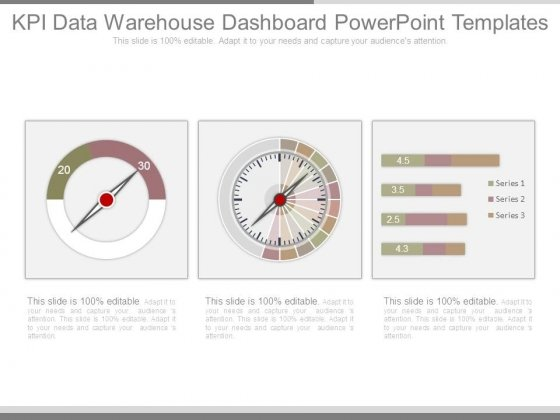 Kpi Data Warehouse Dashboard Powerpoint Templates