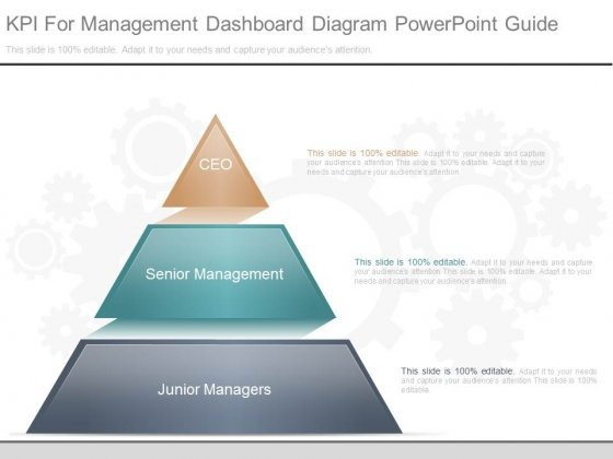 Kpi For Management Dashboard Diagram Powerpoint Guide