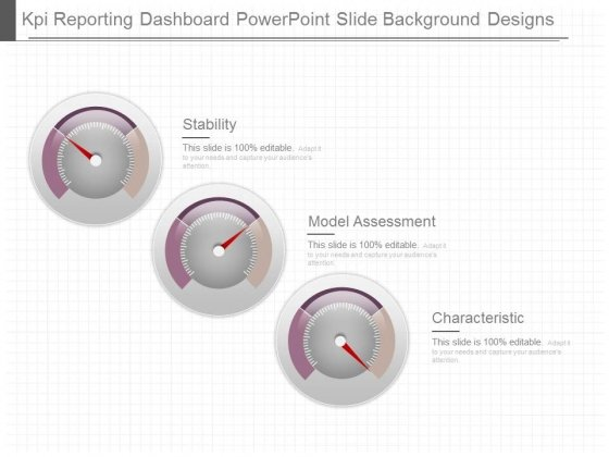 Kpi Reporting Dashboard Powerpoint Slide Background Designs