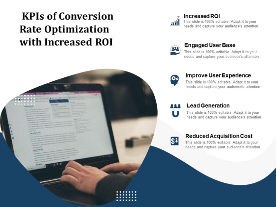 Kpis Of Conversion Rate Optimization With Increased Roi Ppt PowerPoint Presentation File Smartart PDF