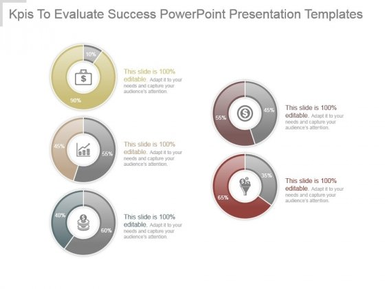 Kpis To Evaluate Success Powerpoint Presentation Templates