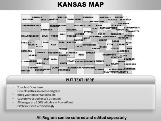 Kansas PowerPoint Maps