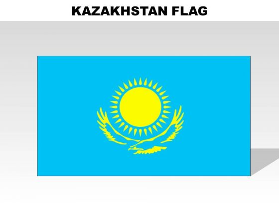 Kazakhstan Of Country PowerPoint Flags