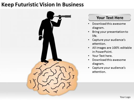 Keep Futuristic Vision In Business Ppt Designing A Plan PowerPoint Slides