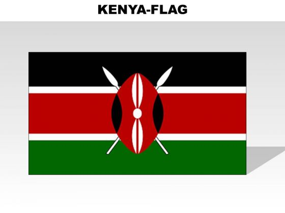 Kenya Country PowerPoint Flags