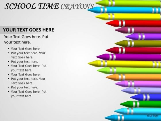 Kids School Crayons PowerPoint Presentation Slides