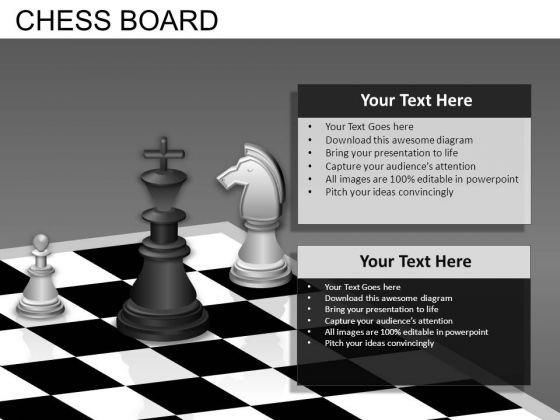 King Knight Pawn Chess PowerPoint Templates
