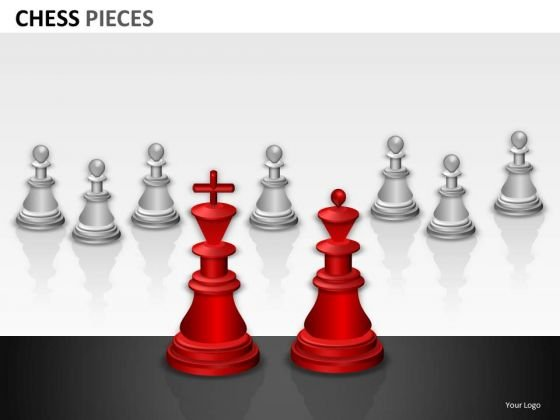 King Queen Chess Pieces PowerPoint Slides And Ppt Diagram Templates