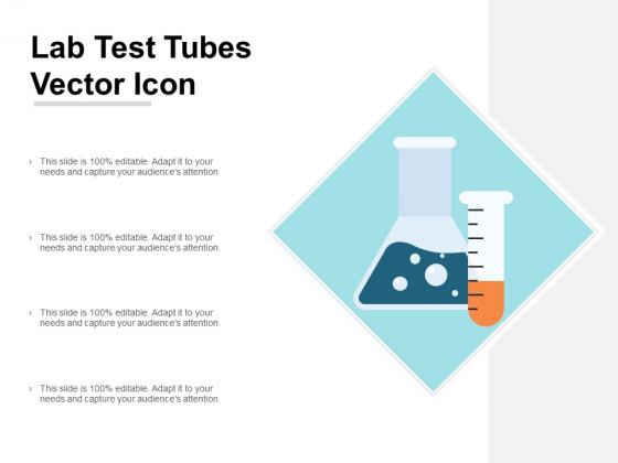 Lab Test Tubes Vector Icon Ppt PowerPoint Presentation Model Design Templates