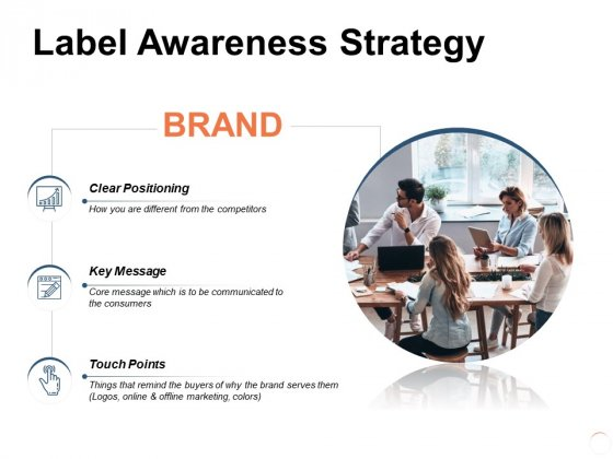 Label Awareness Strategy Ppt PowerPoint Presentation Styles Infographic Template
