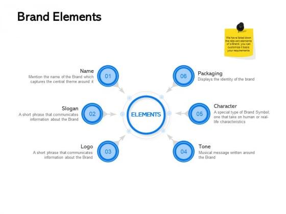 Label Building Initiatives Brand Elements Ppt Outline Infographics PDF