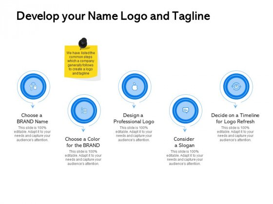 Label Building Initiatives Develop Your Name Logo And Tagline Ppt Layouts Vector PDF