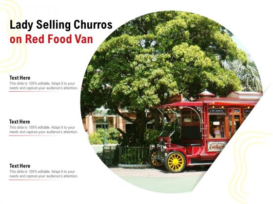 Lady Selling Churros On Red Food Van Ppt PowerPoint Presentation Gallery Diagrams