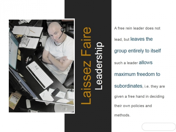 Laissez Faire Leadership Ppt PowerPoint Presentation Gallery