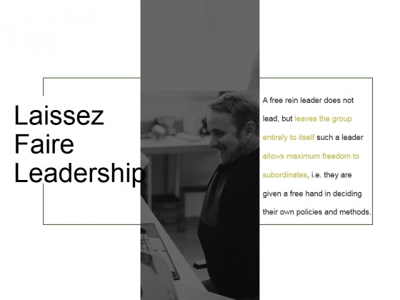 Laissez Faire Leadership Ppt PowerPoint Presentation Guide