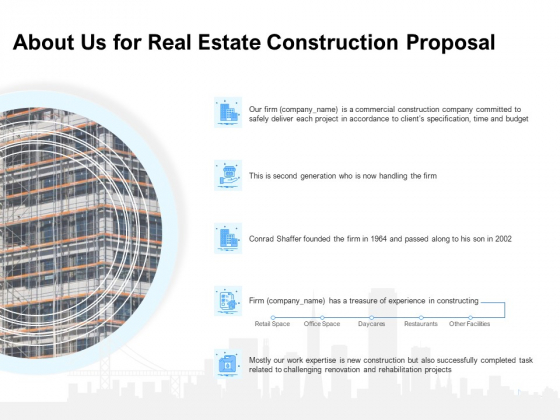 Land Holdings Building About Us For Real Estate Construction Proposal Ppt Show PDF