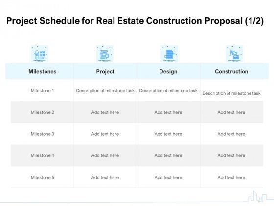 Land_Holdings_Building_Project_Schedule_For_Real_Estate_Construction_Proposal_Ppt_Layouts_Infographics_PDF_Slide_1