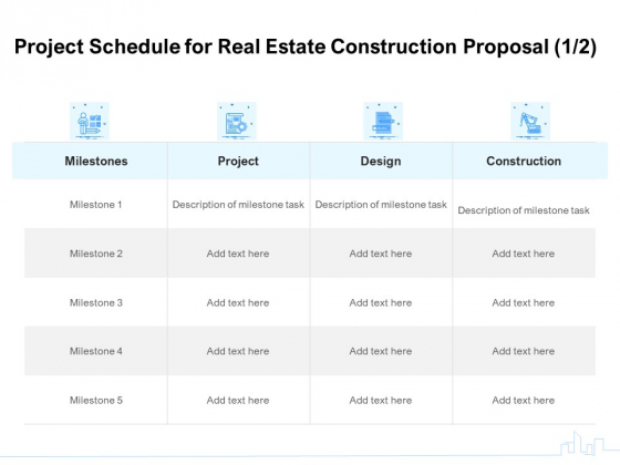 Land Holdings Building Project Schedule For Real Estate Construction Proposal Ppt Layouts Infographics PDF