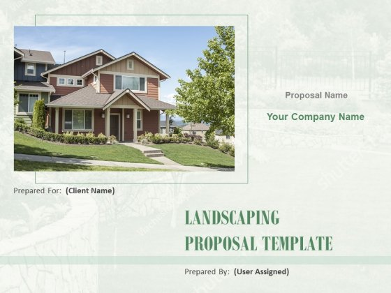 Landscaping Proposal Template Ppt PowerPoint Presentation Complete Deck With Slides