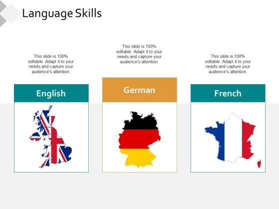 Language Skills Ppt PowerPoint Presentation Slides Graphics Example