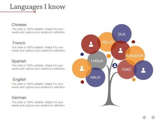 Languages I Know Ppt PowerPoint Presentation Outline