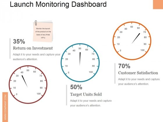 Launch Monitoring Dashboard Ppt PowerPoint Presentation File Clipart
