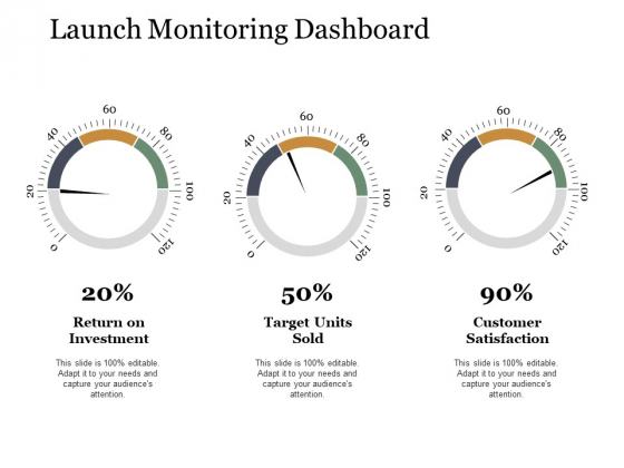 Launch Monitoring Dashboard Ppt PowerPoint Presentation Templates