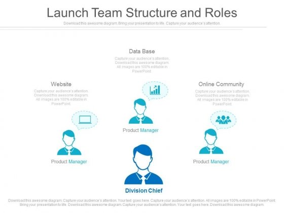 launch team structure and roles ppt slides - powerpoint templates, Powerpoint templates