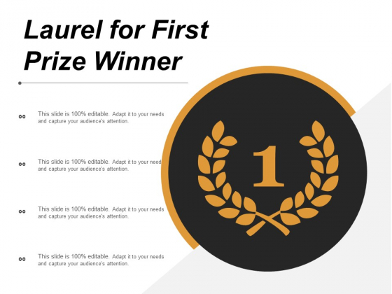 Laurel For First Prize Winner Ppt PowerPoint Presentation Infographics Graphic Tips
