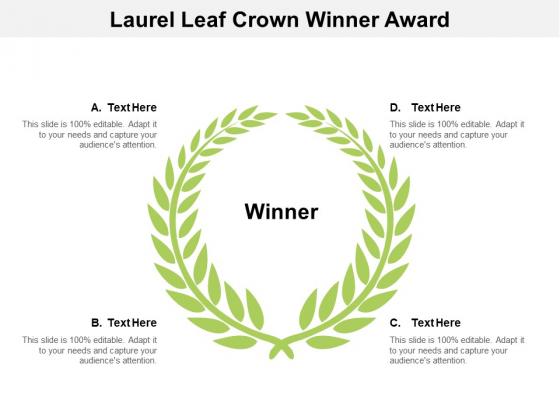 Laurel Leaf Crown Winner Award Ppt PowerPoint Presentation Model Slides