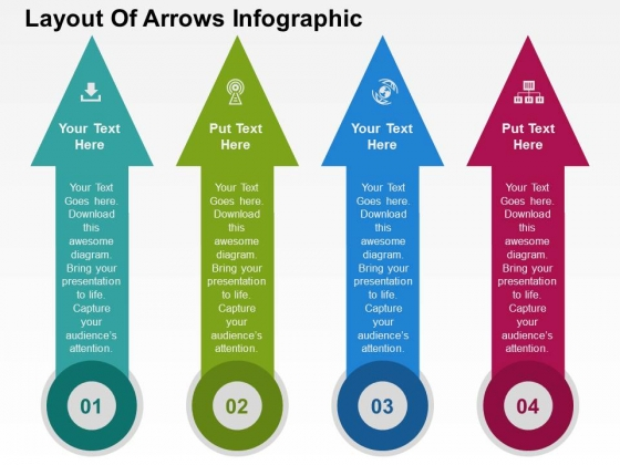 Layout Of Arrows Infographic Powerpoint Templates