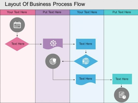 Layout Of Business Process Flow Powerpoint Template