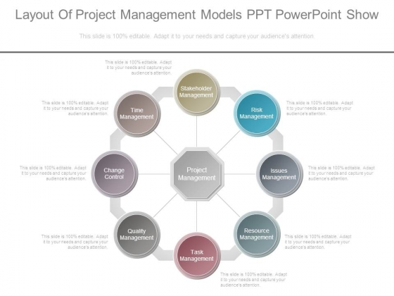 Layout Of Project Management Models Ppt Powerpoint Show