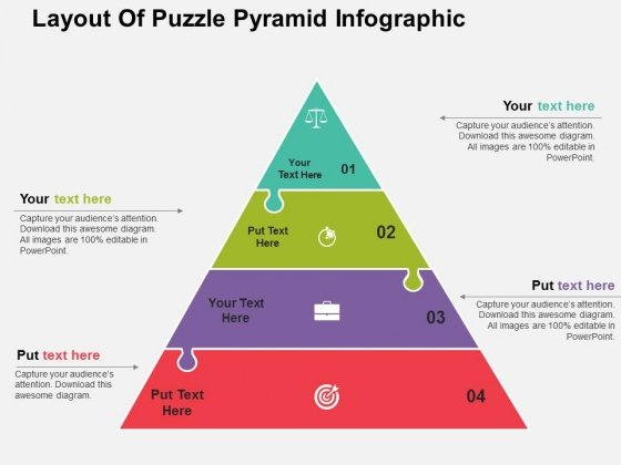 Layout Of Puzzle Pyramid Infographic PowerPoint Templates