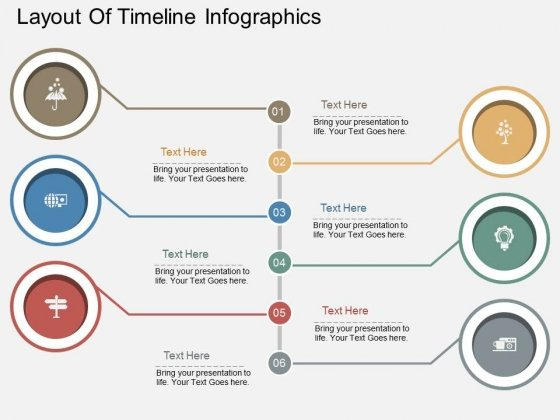 Layout Of Timeline Infographics PowerPoint Template