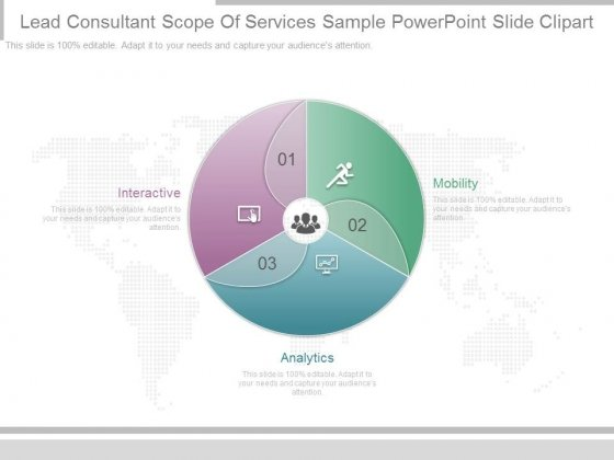 Lead Consultant Scope Of Services Sample Powerpoint Slide Clipart
