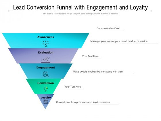Lead Conversion Funnel With Engagement And Loyalty Ppt PowerPoint Presentation Show