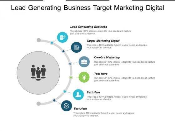 Lead Generating Business Target Marketing Digital Cerebra Marketing Ppt PowerPoint Presentation Layouts Icon