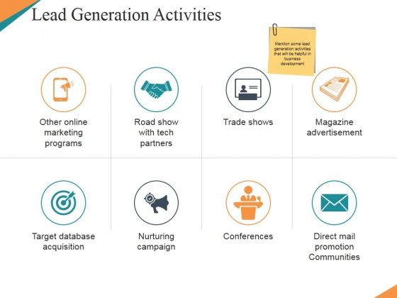 Lead Generation Activities Ppt PowerPoint Presentation Gallery Demonstration