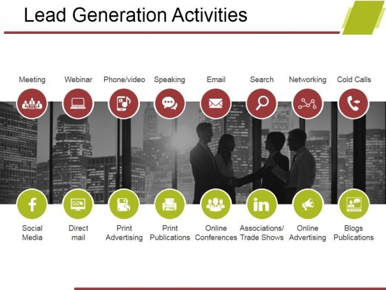 Lead Generation Activities Ppt PowerPoint Presentation Model Design Templates