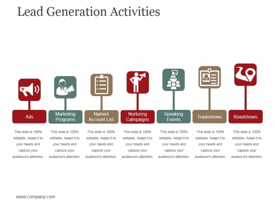 Lead Generation Activities Ppt PowerPoint Presentation Show