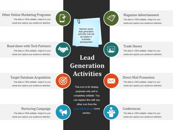 Lead Generation Activities Ppt PowerPoint Presentation Visual Aids Gallery