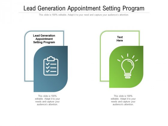 Lead Generation Appointment Setting Program Ppt PowerPoint Presentation Layouts Sample Cpb Pdf