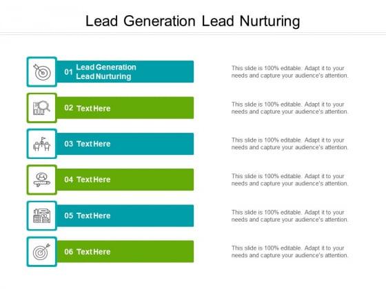 Lead Generation Lead Nurturing Ppt PowerPoint Presentation Infographics Slides Cpb Pdf