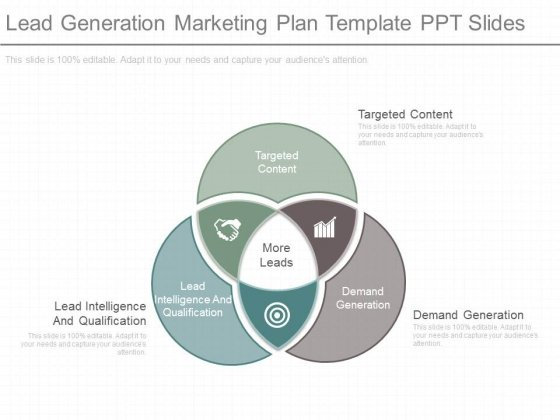 Lead Generation Marketing Plan Template Ppt Slides Powerpoint