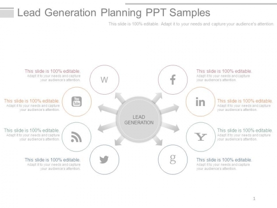 Lead Generation Planning Ppt Samples
