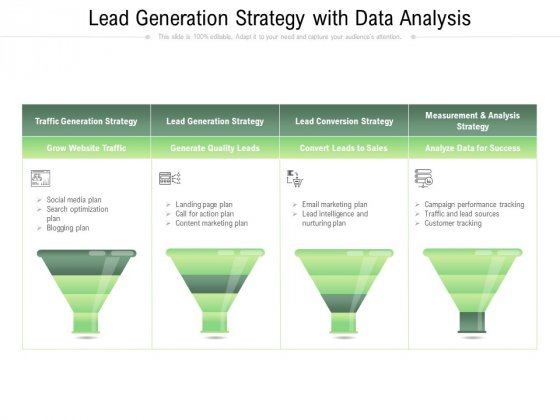 Lead Generation Strategy With Data Analysis Ppt PowerPoint Presentation Gallery Example PDF