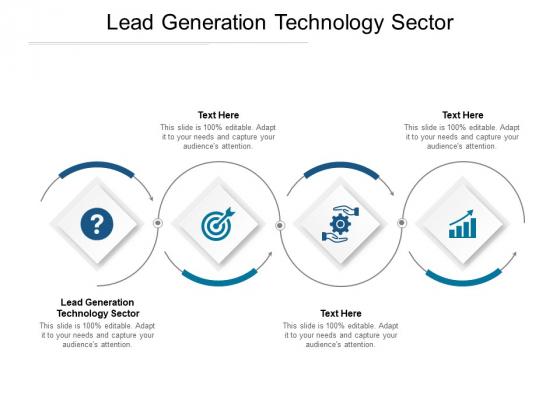 Lead Generation Technology Sector Ppt PowerPoint Presentation Portfolio Model Cpb Pdf