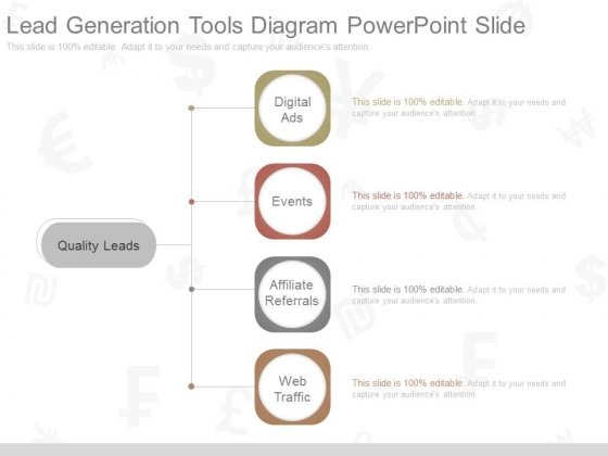 Lead Generation Tools Diagram Powerpoint Slide