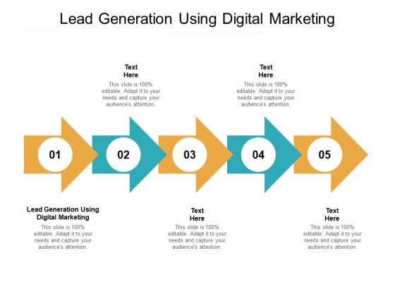 Lead Generation Using Digital Marketing Ppt PowerPoint Presentation Portfolio Guidelines Cpb Pdf
